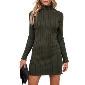 "Womens ""Nora"" Casual Turtleneck Sweater Dress"